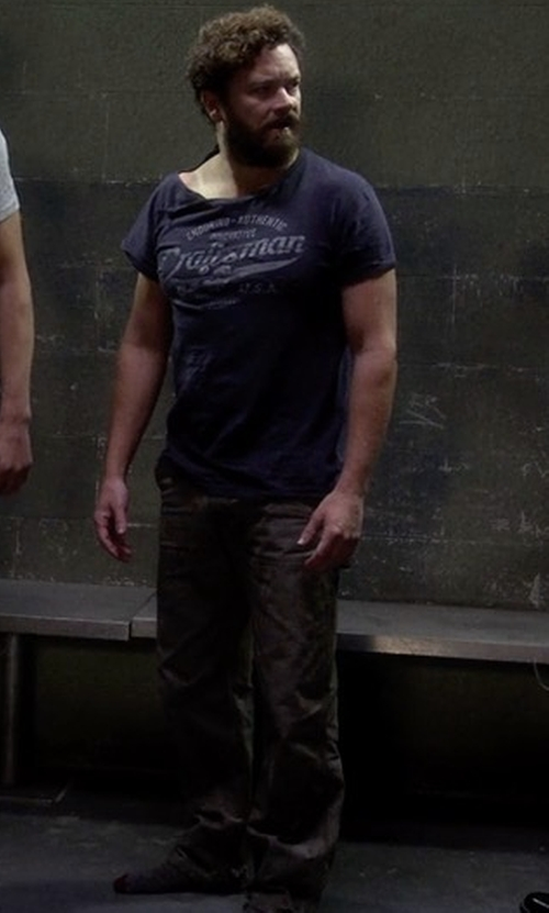 Danny Masterson with Joe's Jeans Brixton Slim-Straight Jeans in The Ranch