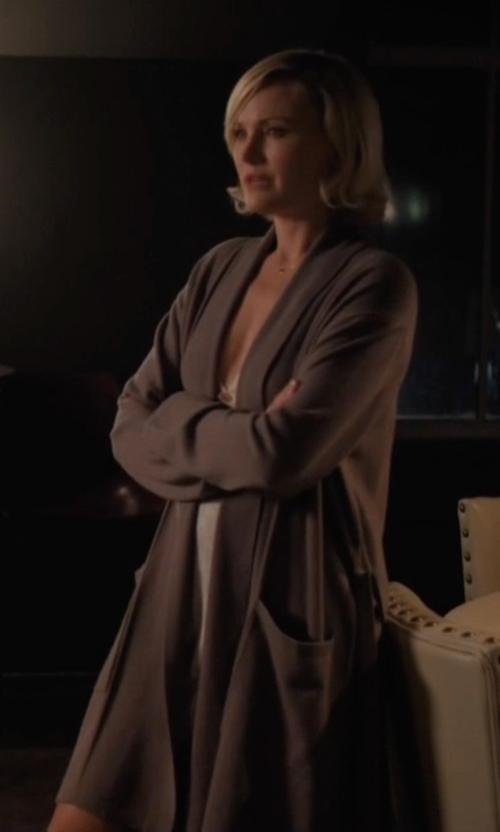 Malin Akerman with Jockey Cotton Essentials Robe in Billions
