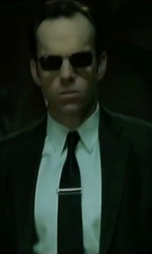 Hugo Weaving with Paul Smith Abbey Road Suit in The Matrix