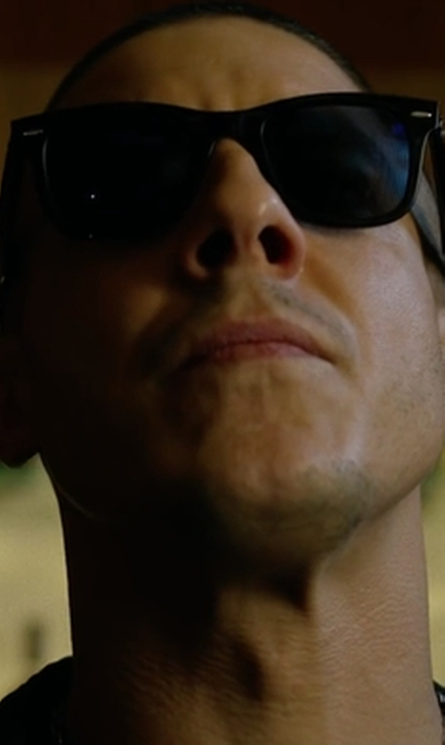 Theo Rossi with Ray-Ban Classic Wayfarer Sunglasses in Marvel's Luke Cage