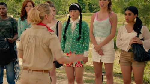 Chrissie Fit with Alice + Olivia Cady Cuff Short in Pitch Perfect 2