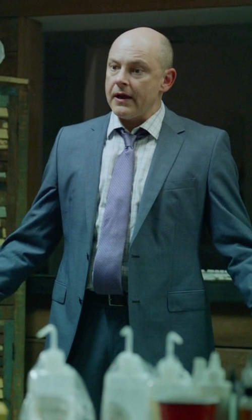 Rob Corddry with Ted Baker Smart Leather Reversible Belt in Ballers