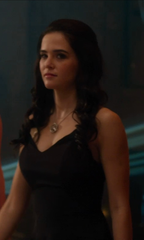 Zoey Deutch with Herve Leger V-Neck Bandage Gown in Vampire Academy