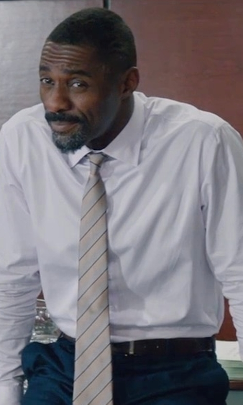 Idris Elba with Salvatore Ferragamo Paloma Reversible Leather Belt in Molly's Game