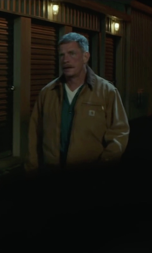 Thomas Haden Church with Carhartt Men's Weathered Duck Detroit Jacket in Max