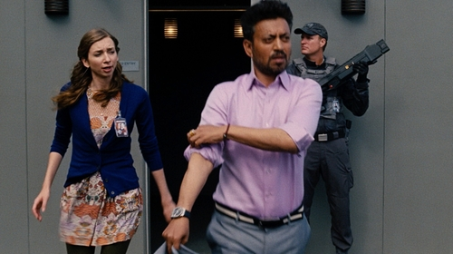 Lauren Lapkus with Topshop Floral Print Dress in Jurassic World