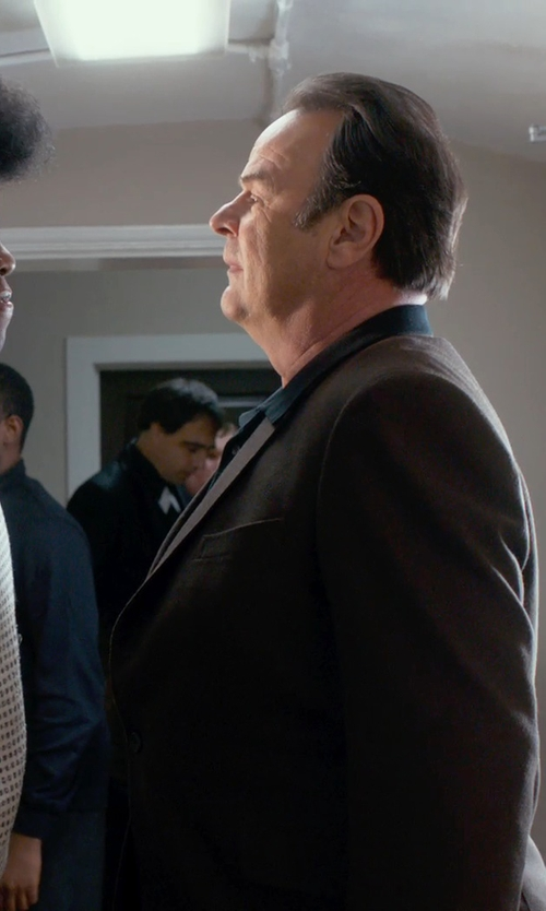 Dan Aykroyd with Versace City-Fit 2-Button Wool Suit in Get On Up