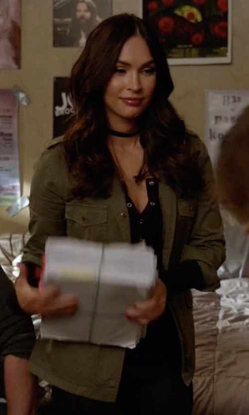Megan Fox with Velvet by Graham & Spencer Army Jacket in New Girl