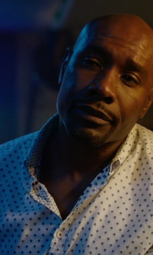 Morris Chestnut with Engineered Garments Paisley-Pattern Shirt in Rosewood