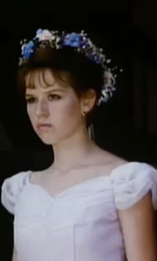 Molly Ringwald with 4. Collective Basket Weave Cap Sleeve Fitted Dress in Sixteen Candles