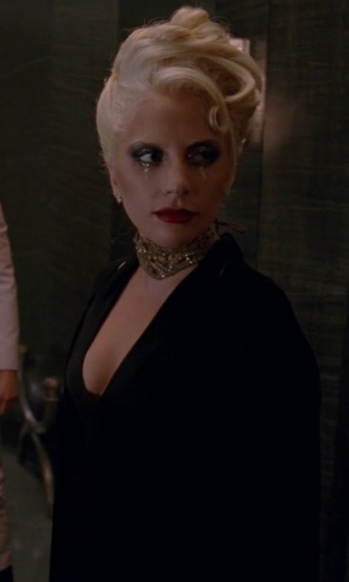 Lady Gaga with Bebe Cutout Midi Dress in American Horror Story