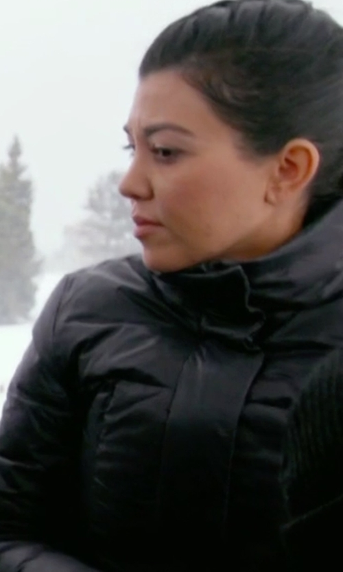 Kourtney Kardashian with Fendi Belted Quilted Shell Jacket in Keeping Up With The Kardashians