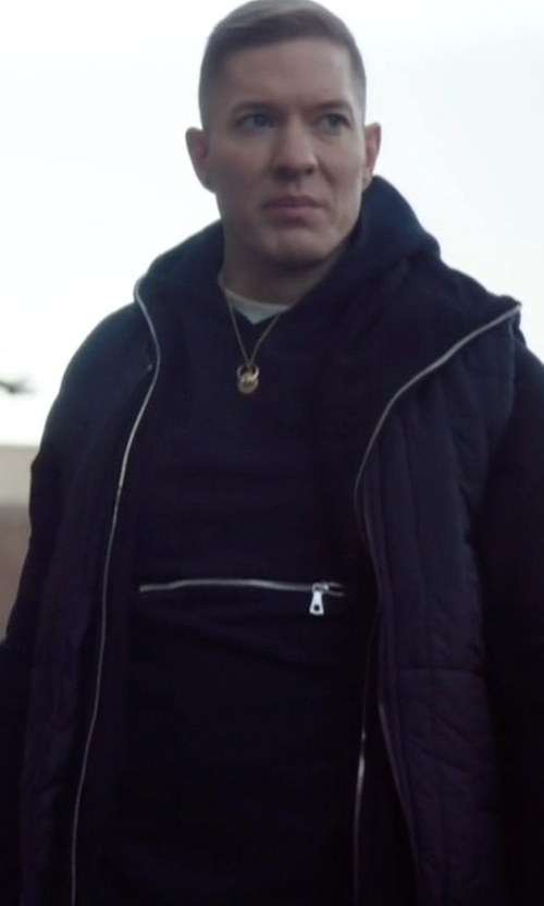 Joseph Sikora with Vince Quilted Tech Utility Vest in Power