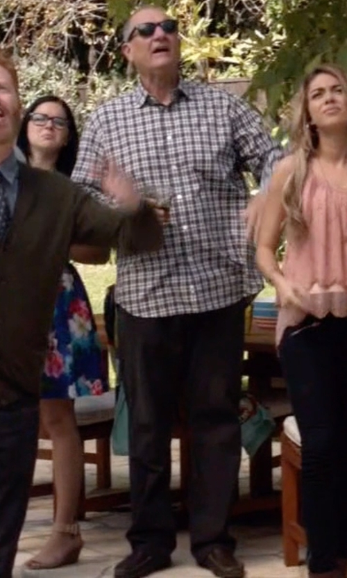 Ed O'Neill with Nordstrom Straight Leg Washed Chino Pants in Modern Family