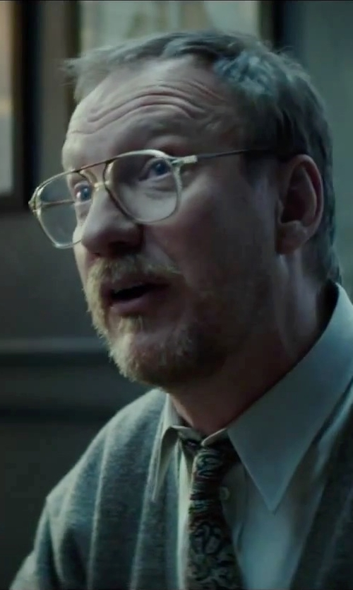 David Thewlis with Yves Saint Laurent Vintage Square Frame Glasses in Regression