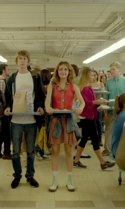 Olivia Cooke with Dr. Martens Ankle Boots in Me and Earl and the Dying Girl