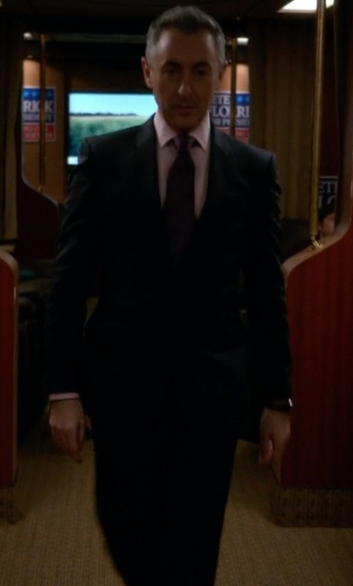 Alan Cumming with Ralph Lauren Polo Striped Wool Suit in The Good Wife
