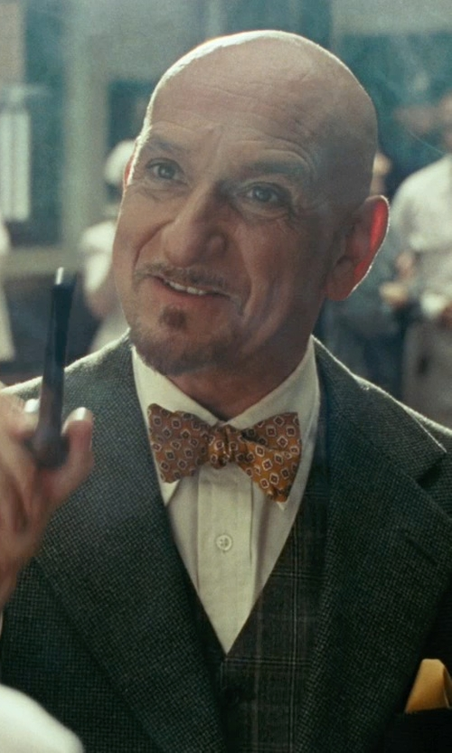 Ben Kingsley with Ted Baker London Groovy Neat Silk Bow Tie in Shutter Island