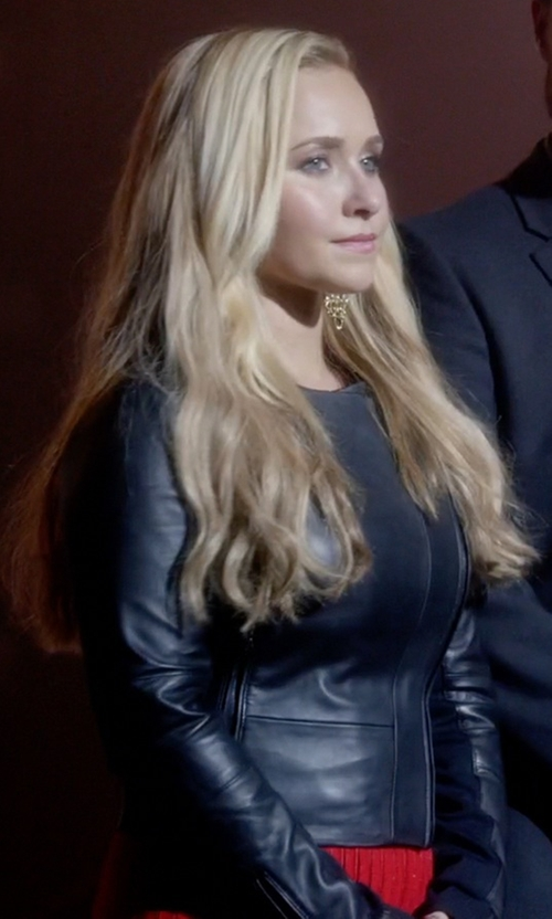 Hayden Panettiere with Stefanel Leather Jacket in Nashville