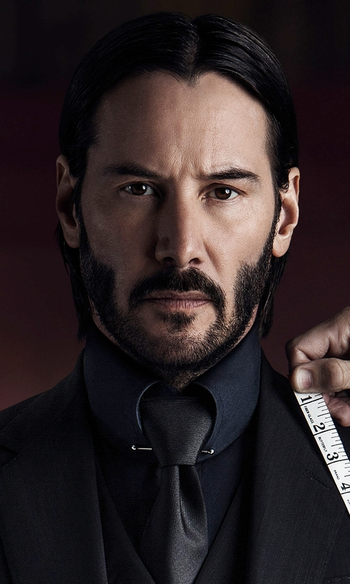 Keanu Reeves with Burberry Slim-Fit Seaford Dress Shirt in John Wick: Chapter 2