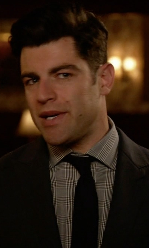 Max Greenfield with Michael Michael Kors Multi Plaid Dress Shirt in New Girl