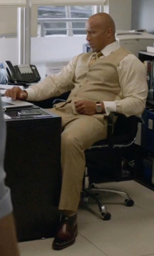 Dwayne Johnson with To Boot New York 'Brandon' Cap Toe Oxford Shoes in Ballers