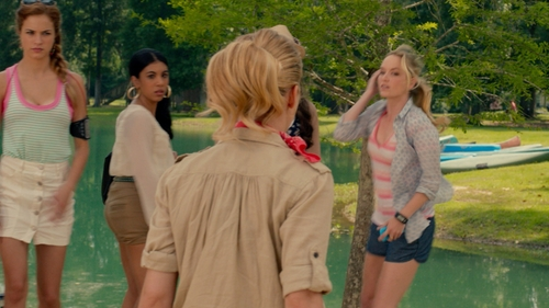Alexis Knapp with BCBG Button Skirt in Pitch Perfect 2