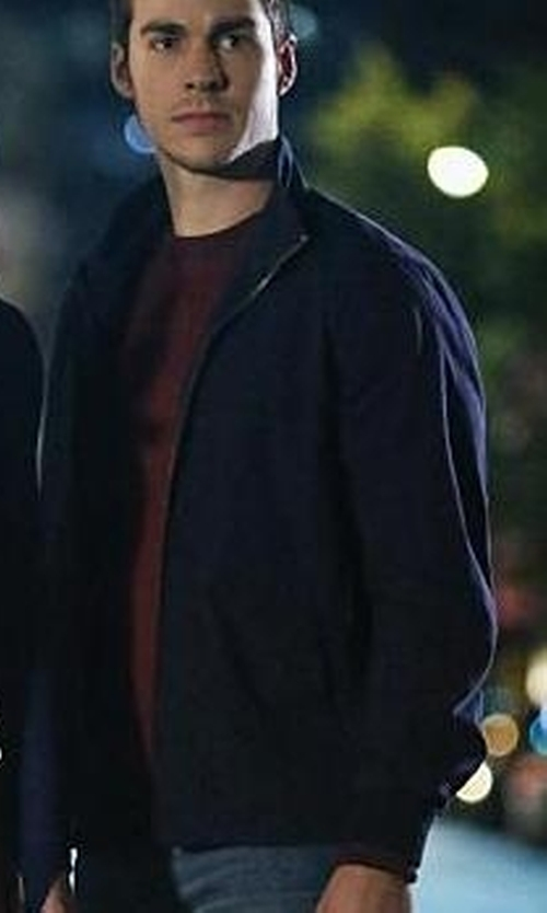 Chris Wood with Z Zegna Stretch Cotton-Modal Zip Jacket in Supergirl