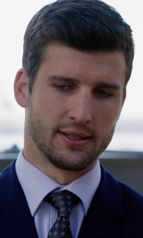 Parker Young with Calibrate Woven Silk Tie in Arrow