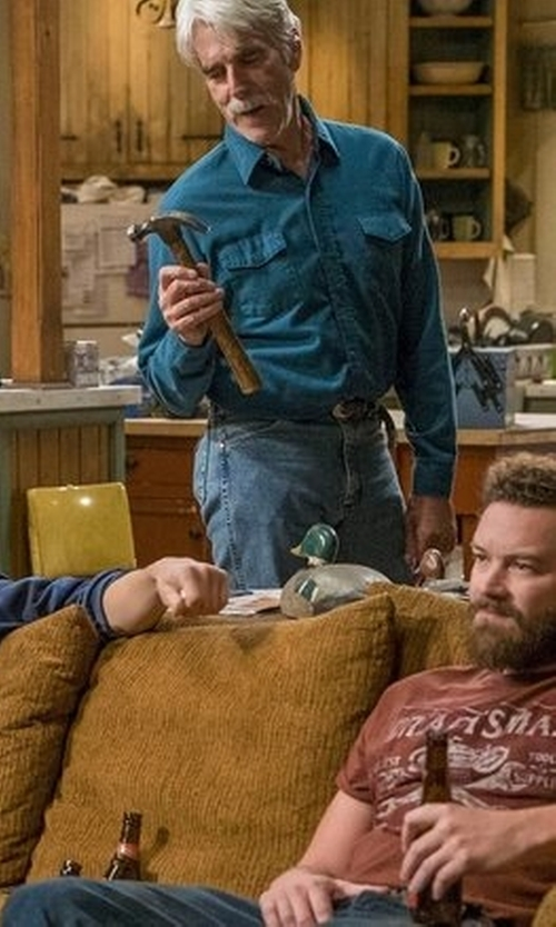 Sam Elliott with Hurley Burn Long Sleeve Woven Shirt in The Ranch