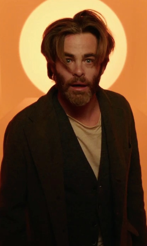 Chris Pine with Chapter Jord Coat in A Wrinkle In Time