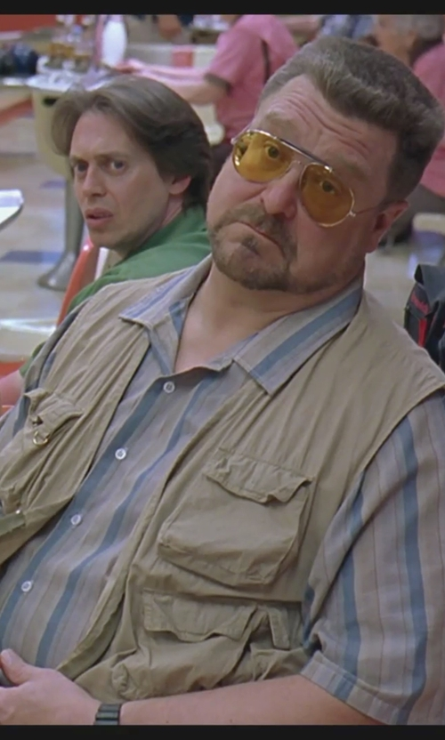 John Goodman with Alipolo Summer Cotton Leisure Outdoor Fish Vest in The Big Lebowski