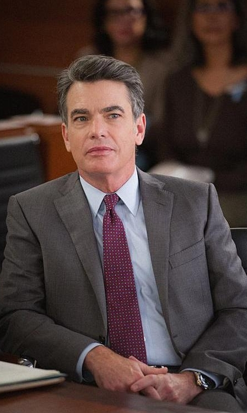 Chris Noth with Burberry London Milbank Sharkskin Wool Two-Piece Suit in The Good Wife