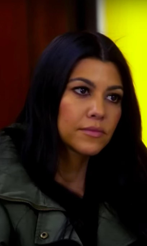 Kourtney Kardashian with Golden Goose Full-Length Jacket in Keeping Up With The Kardashians