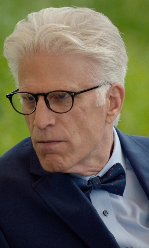 Ted Danson with Gitman Dot Silk Bow Tie in The Good Place