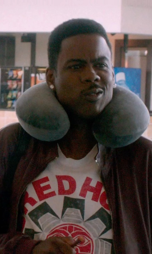 Chris Rock with TravelMate Memory Foam Neck Pillow in Top Five