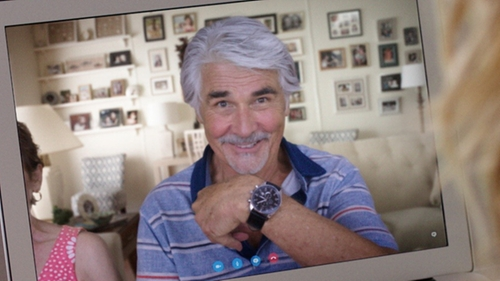 James Brolin with TAG Heuer Carrera Stainless Steel Watch in Sisters