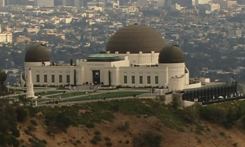 Unknown Actor with Griffith Observatory Los Angeles, California in San Andreas