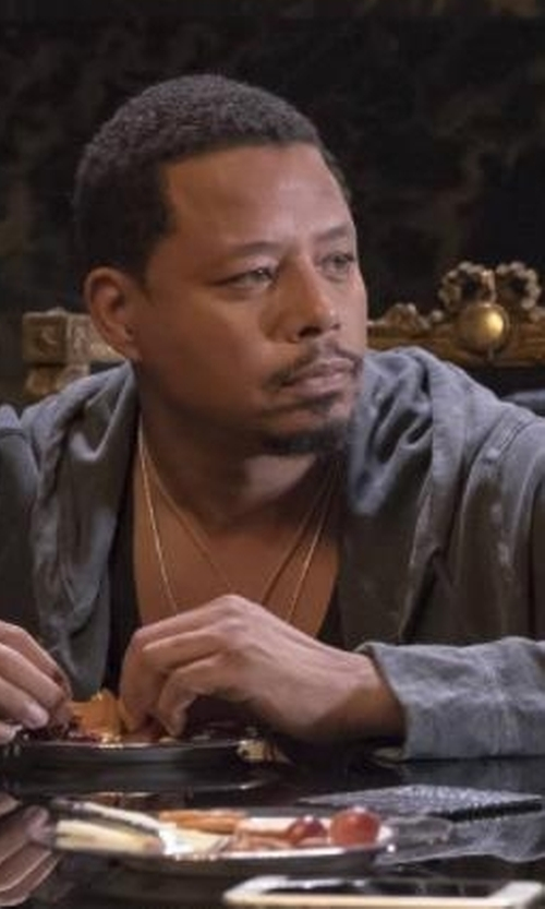 Terrence Howard  with Vince Oversize Cashmere Zip Hoodie in Empire