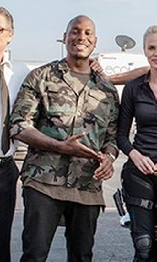 Tyrese Gibson with Affliction Rusty Break Utility Jacket in Fast 8