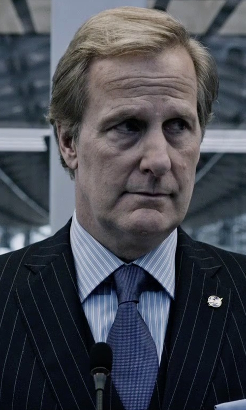 Jeff Daniels with Thomas Pink Freud Stripe Classic Fit Double Cuff Shirt in The Martian