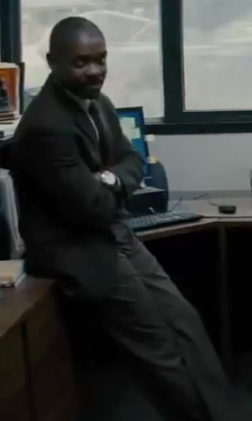 David Oyelowo with Calvin Klein Modern Fit Two-Piece Suit in Interstellar
