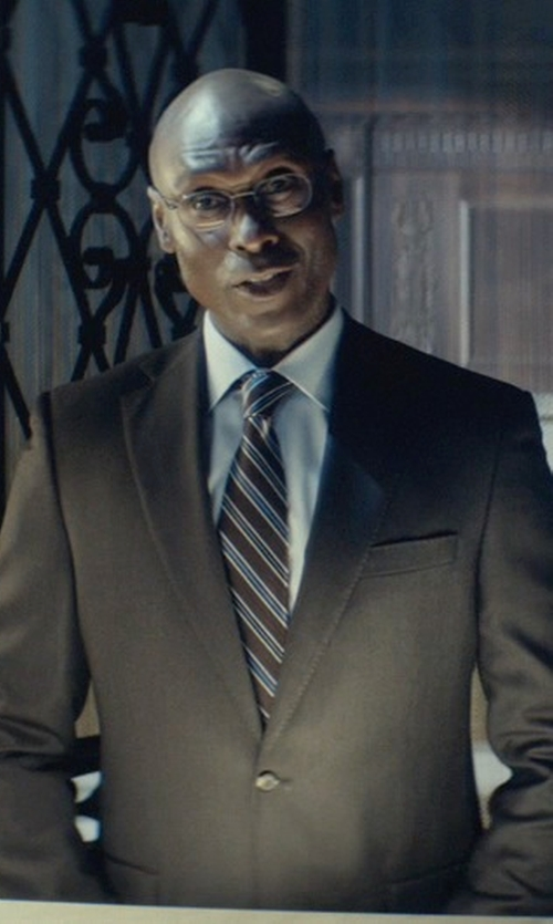 Lance Reddick with Hickey Freeman Two-Button Wool Suit in John Wick