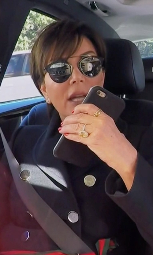 Kris Jenner with Red Valentino Double Breasted Peacoat in Keeping Up With The Kardashians