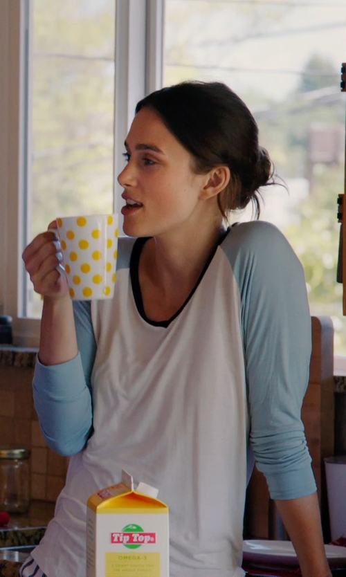 Keira Knightley with LNA Beach Raglan Tee in Laggies