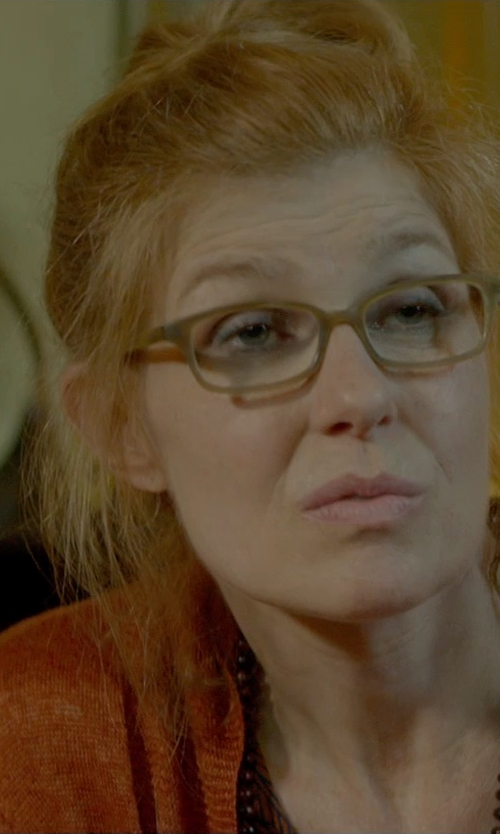 Connie Britton with Salvatore Ferragamo Beige Shaded Eyeglasses in Me and Earl and the Dying Girl