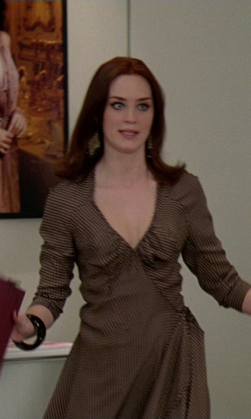Emily Blunt with Diane von Furstenberg Silk Dress in The Devil Wears Prada