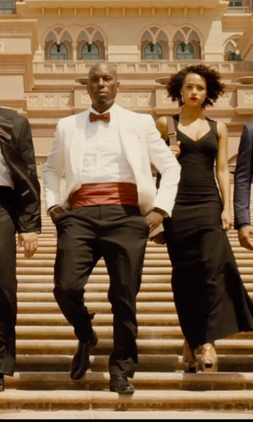 Tyrese Gibson with Alexander McQueen Mohair Tuxedo Trousers in Furious 7