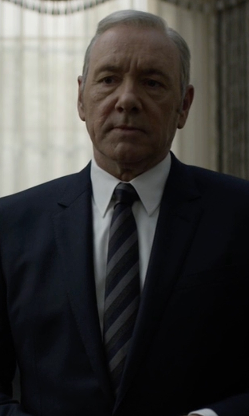 Kevin Spacey with Rag & Bone Carnaby Stripe Tie in House of Cards