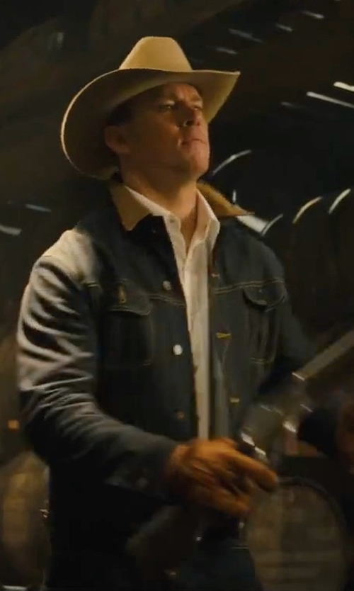 Channing Tatum with Mario Portolano Shearling Gloves in Kingsman: The Golden Circle